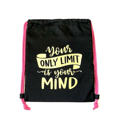 "Gympapåse med tryck ""Your only limit is your mind"""