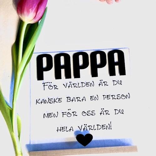 Glasplatta med träfot - PAPPA -