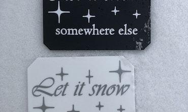 Isskrapa - Let it snow somewhere else -