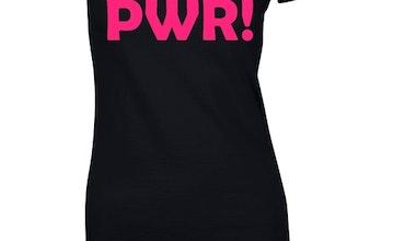 "T-shirt med tryck ""GRL PWR!"""