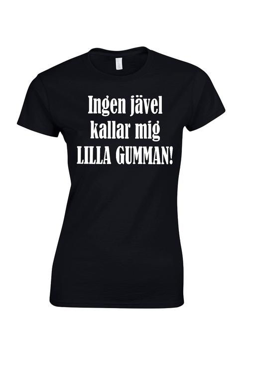 """T-shirt med tryck """"Lilla gumman"""""""