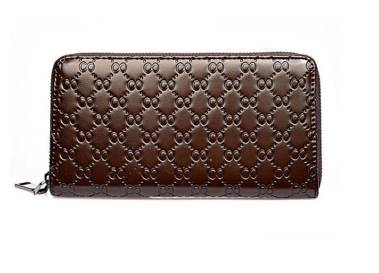 Stor plånbok i äkta skinn - 8 Style - Brun