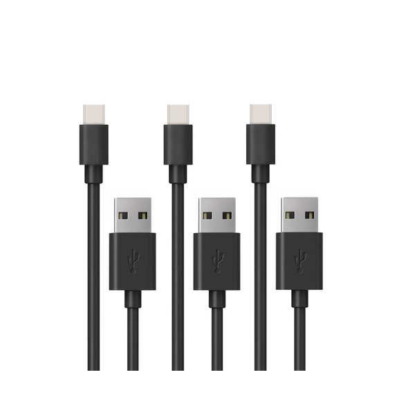 3-pack USB Type-C laddkabel - Svart