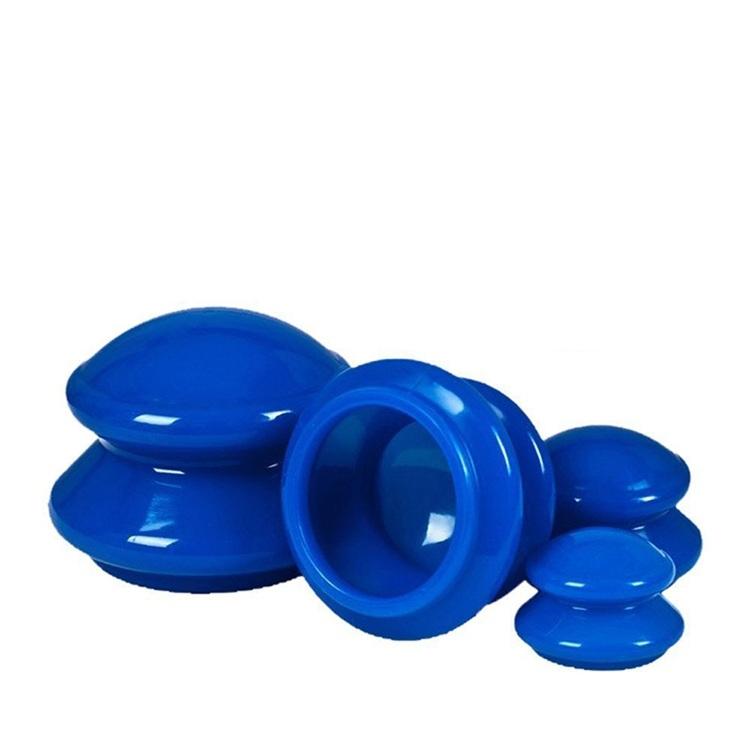 Koppning - Blå Silikon koppor + ansiktkoppa