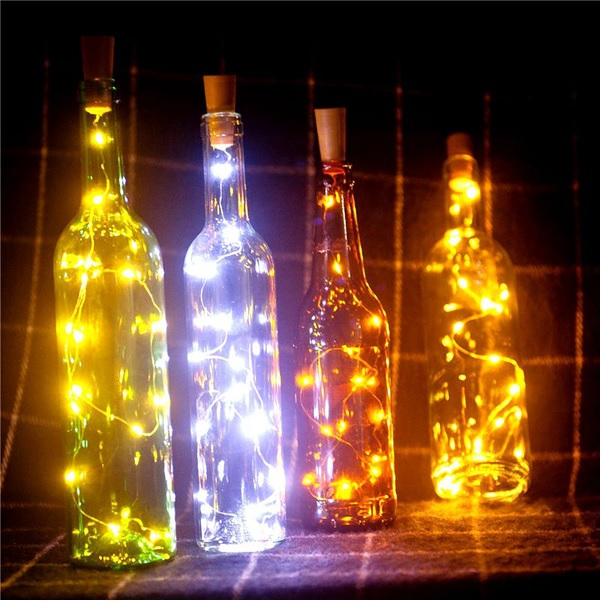 3- Pack LED Ljusslinga för Flaskor Dekorbelysning - 2 meter