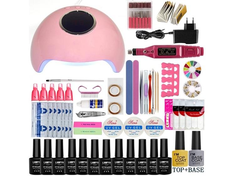 Startkit gelénaglar inkl, Elektrisk nagelfil - 36w LED/UV-Lampa