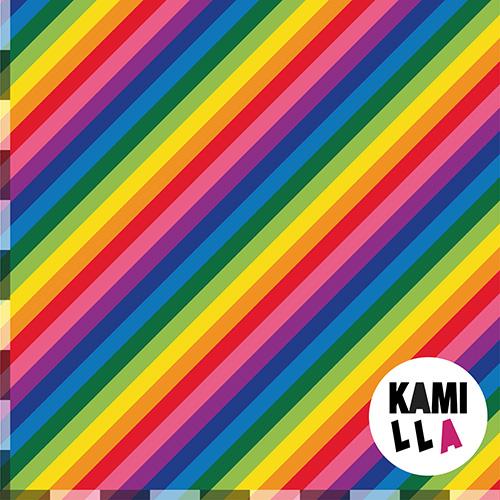 KLIPPT BIT -  Diagonala Regnbågsränder 2.0