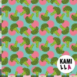 KLIPPT BIT - Broccoli Blågrön/Rosa