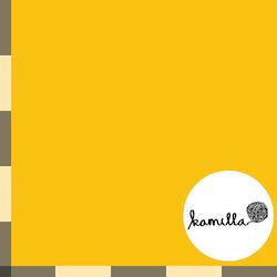 KLIPPT BIT -  GOTS Single jersey - Varmgul enfärgad