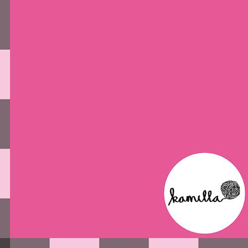 KLIPPT BIT -  GOTS Single Jersey - Varmrosa enfärgad