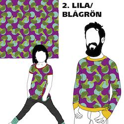 KLIPPT BIT -  Broccoli Lila/Blågrön
