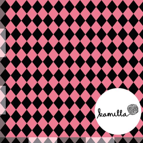 KLIPPTA BITAR - GOTS - Harlequin rosa