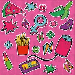 KLIPPT BIT GOTS - PIZZAPARTY Pink