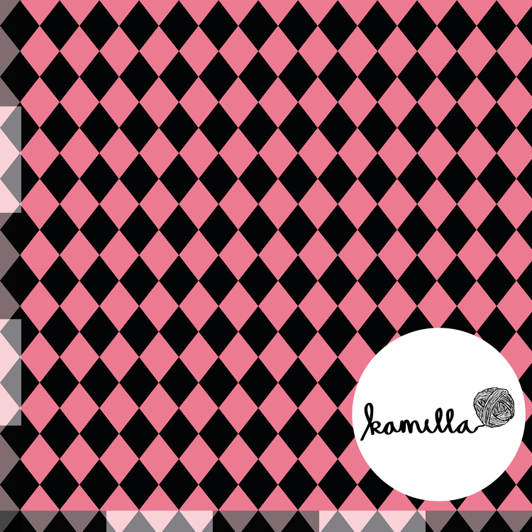 GOTS - Harlequin rosa