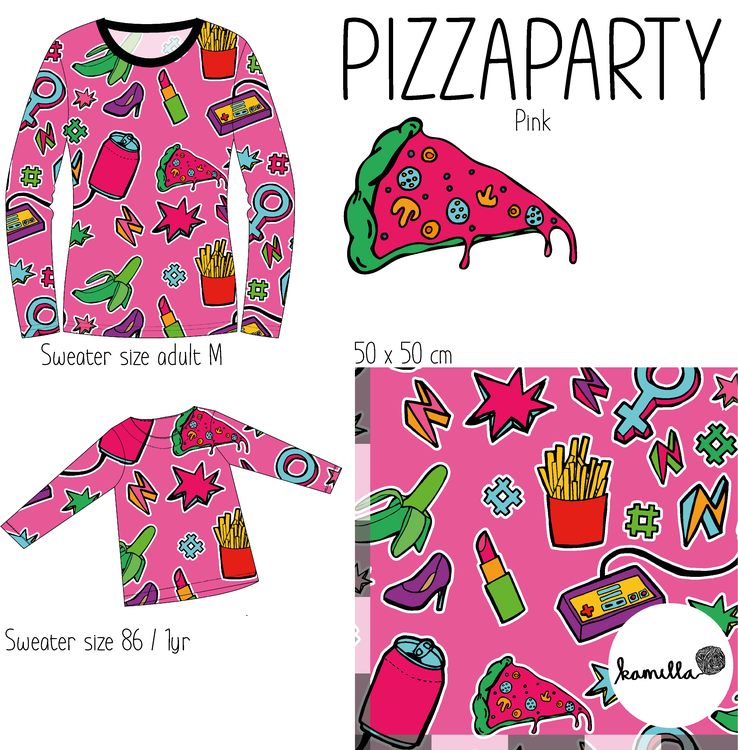 GOTS - PIZZAPARTY Pink
