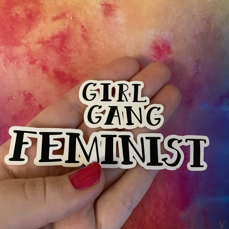 STICKERS XL - GIRL GANG - Text