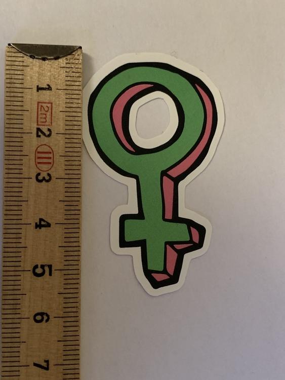 STICKERS XL - GIRL GANG - Venus grön