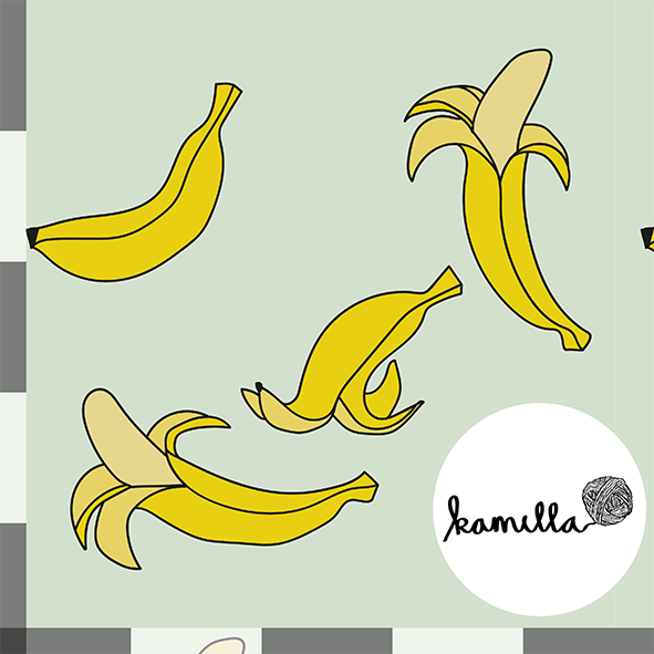 GOTS - POPLIN - Mint banan