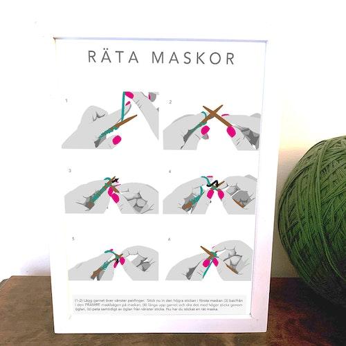 Poster - A4 - Räta Maskor