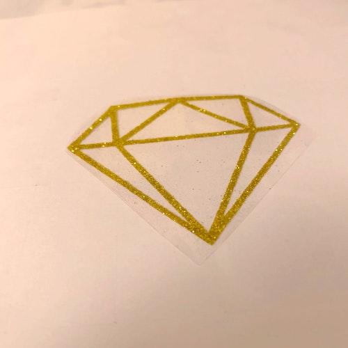 VINYL ATT STRYKA PÅ - Diamant Glitter GULD