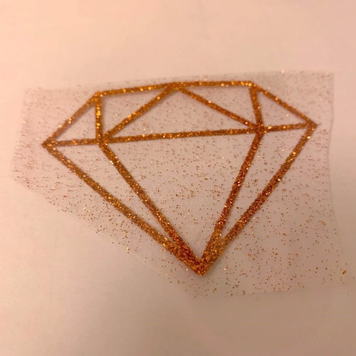 VINYL ATT STRYKA PÅ - Diamant Glitter KOPPAR