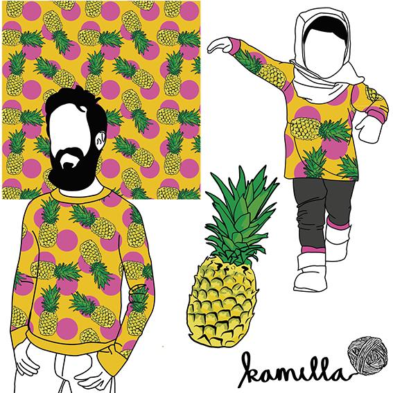 Ananas Gul/Rosa