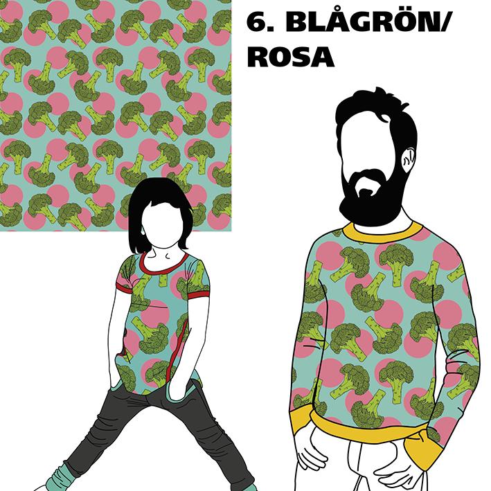 Broccoli Blågrön/Rosa
