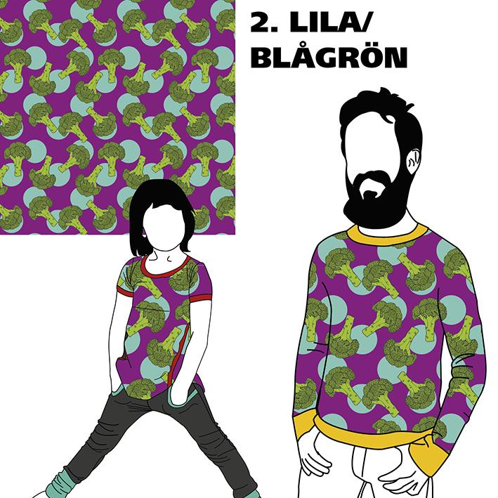 Broccoli Lila/Blågrön