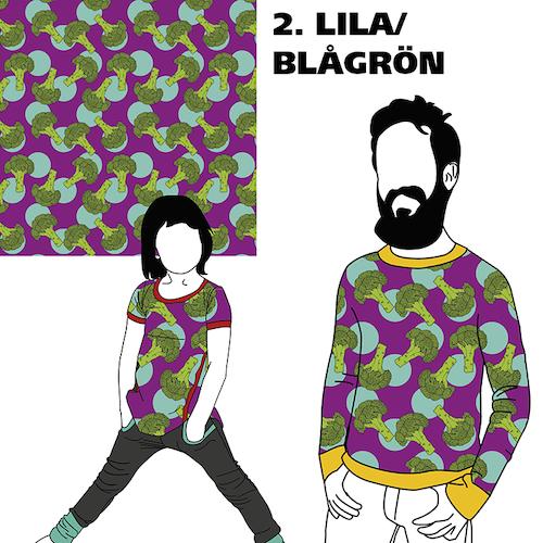 FÖRHANDSBOKNING Broccoli Lila/Blågrön