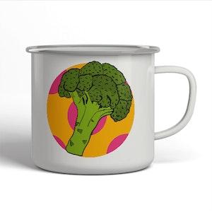 Emaljerad mugg - Broccoli