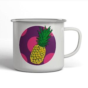 Emaljerad mugg - Ananas