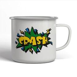 Emaljerad mugg - Crash