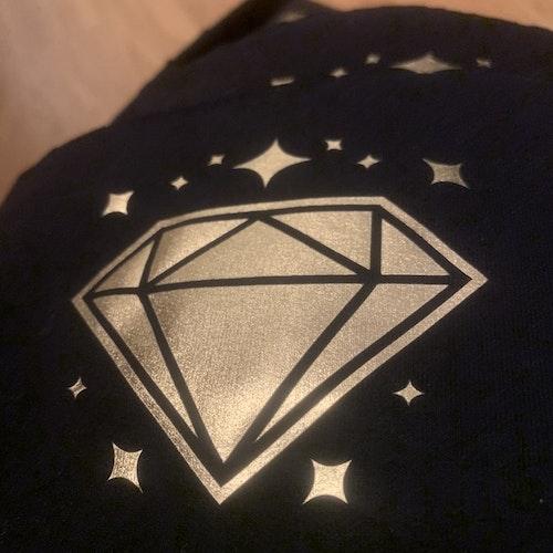 Diamant Guldfärgad Textilvinyl