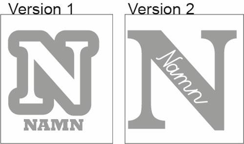 Namn - Reflex Textilvinyl