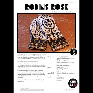 PDF-mönster -  Robins Rose