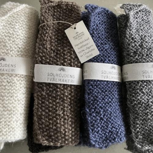 Tvättlapp i ull från Solhöjdens Tvålmakeri