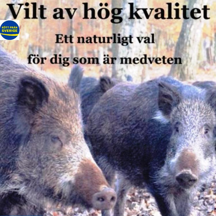 Färsköttlåda vildsvin 5 kg á 150 kr