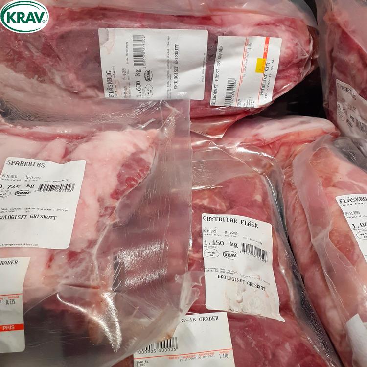 OUTLET! Ekologiskt griskött KRAV 7,3 kg
