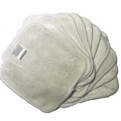 50 pack - Tvättlappar i bambu och bomull