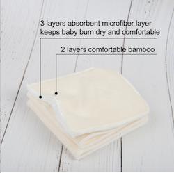 6 Inlägg i bambu/micro, 4 lager