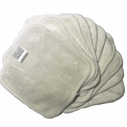 10 pack - Tvättlappar i bambu och bomull