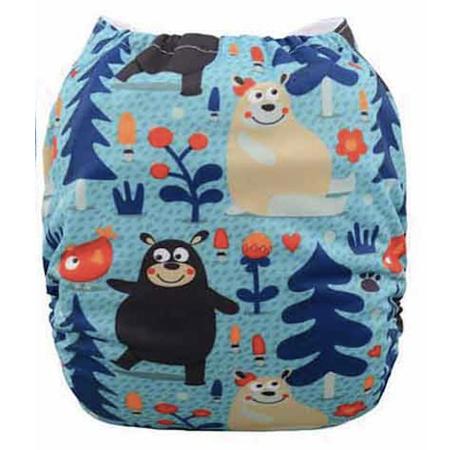 AIO tygblöja - Skogsbjörnar