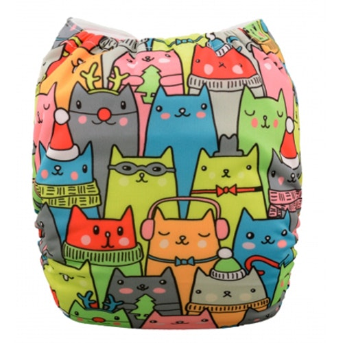 Pocketblöja med inlägg - Cats