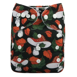Pocketblöja med inlägg - Rödsvamp
