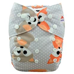 Pocketblöja med inlägg - Rävar