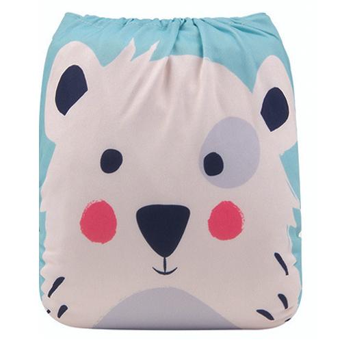 Pocketblöja med inlägg - Isbjörn