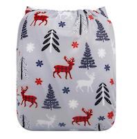 Pocketblöja med inlägg - Julfrid