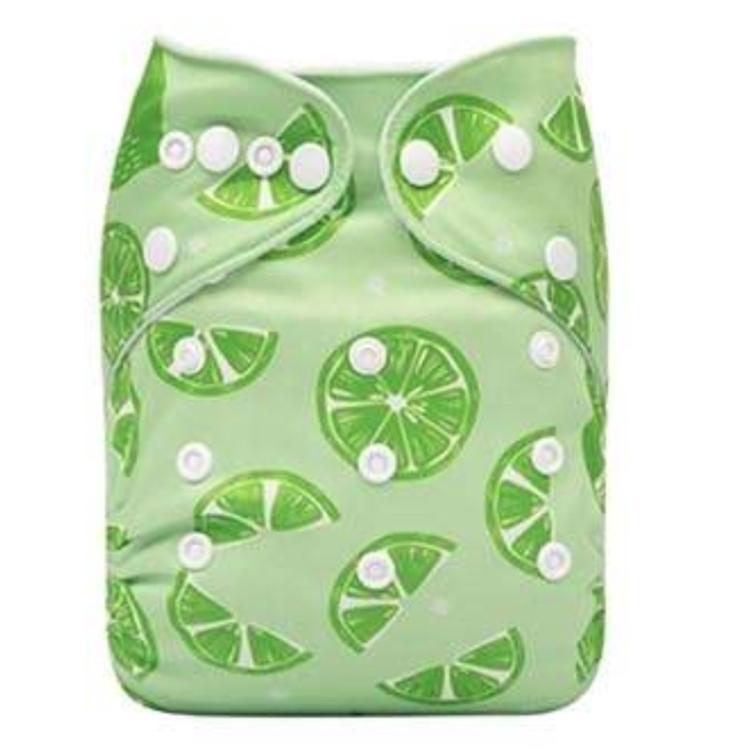 Pocketblöja med inlägg - Lime