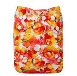 Pocketblöja med inlägg - Fruktsallad
