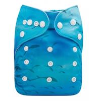 Pocketblöja med inlägg - Havet